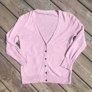 J. Crew pink v-neck sweater